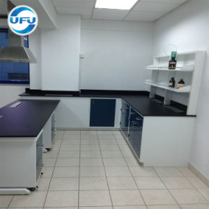 販売のための現代学校化学実験室の鋼鉄壁の仕事台