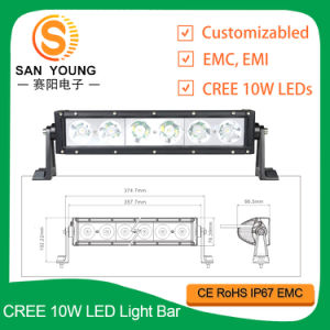 13 la barre 12V d'éclairage LED de pouce 60W choisissent le CREE de rangée pour l'entraîneur tous terrains de bateau de camion d'ATV 4X4 pilotant la marine