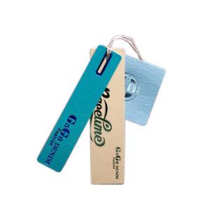 Papel personalizado de alta calidad colgar la ropa de etiqueta etiquetas