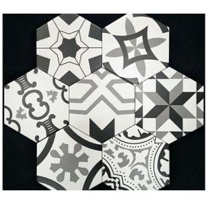 De witte Hexagon Muur betegelt 3D Tegels van de Vloer van de Muur van de Badkamers van Inkjet