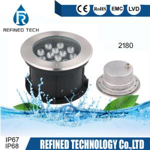 LED de alta potencia 12W luz enterrada/LED Luz subacuática/LED de luz de pared