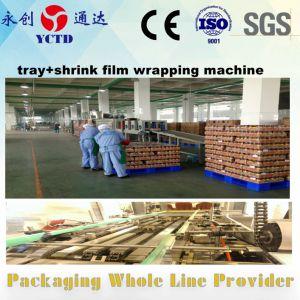 Thermische krimpfolie verpakkende machine voor dranken met dienblad en film verpakkende machine