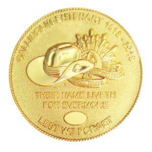 Struck Iron Custom Antique Gold Metal Mirror Challenge Coin sterben für Promotion (175)