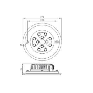 Gl120 12W China im Freien IP68 LED unterirdisch Lichter der Fabrik-