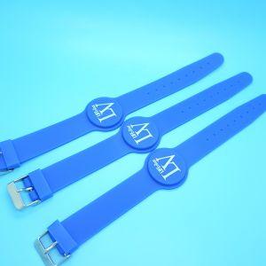 À prova de água e de Silicone ajustável Ntag213 bracelete NFC para piscina