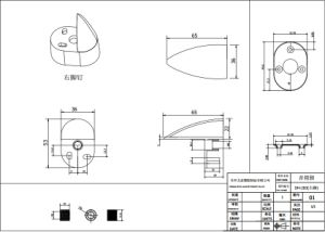 RoHS ABS Audios-Bauteil--Rahmen-Arbeit (DH-283)