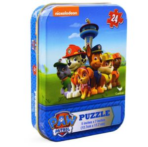auf einer Rolle 24 Stück-Puzzle in einem Zinn