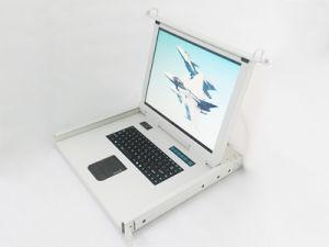 """Switch KVM com teclado / com 17"""" Tela LCD / gaveta porta-paletes usados na sala de dados"""