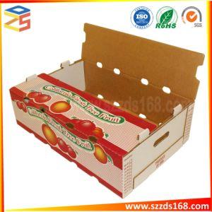hecho personalizado fruta ondulada Mango/Apple/Kiwi cajas de embalaje