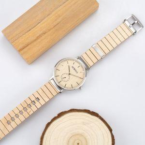 L'abitudine di lusso guarda la vigilanza del legno di affari del Mens dell'orologio dell'acciaio inossidabile