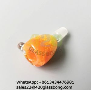 De Kommen van het Glas van de Kleur van het suikergoed voor de Rokende Waterpijpen van het Glas van de Tabak met Oranje Kleur