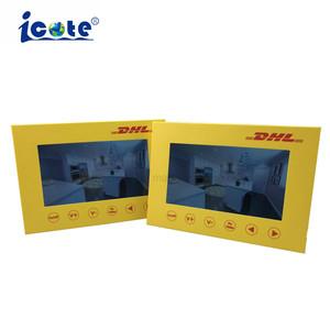 Vendas quente POS LCD exclusivo formato brochura para os anúncios de exibição de vídeo