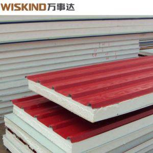 鉄骨構造の工場Hビームオフィスの工場のためのInsuationのWiskind EPSサンドイッチパネル