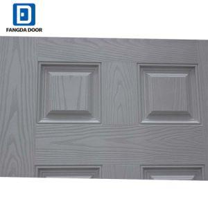 Portello classico dell'acciaio di colore della venatura del legno filmato PVC