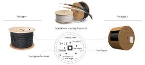 Tubo solto 2-24 para núcleos centrais GYXTW cabo exterior de Fibra Óptica