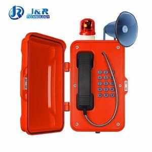 Telefone de emergência ferroviário para área áspera com altifalante e o alarme