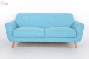 Escritório Azul nórdicos cadeira de madeira dois Seat Office Sofá