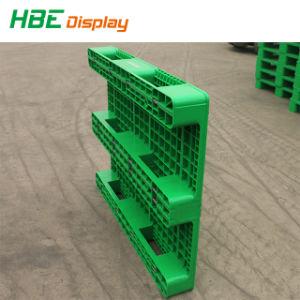 Het rekupereerbare Open Dek voegt de Plastic Pallet van de Buizen van het Staal voor Verpakking en het Afdrukken toe