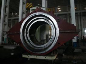 WSteam 터빈은 LP 안 외부 케이싱 (250MW) elded 강철 플레이트 성분을 닫았다