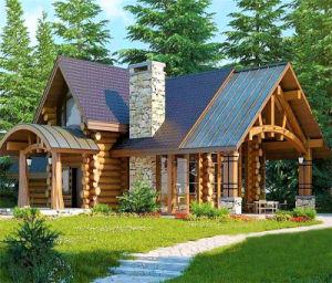 Сегменте панельного домостроения в выходные деревянный дом отдыха дома