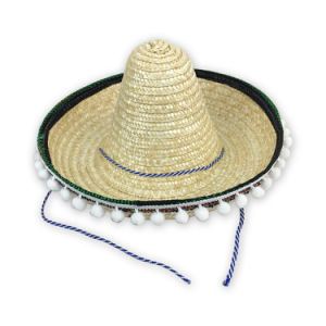 Fabricante femenino Verano teñido de Sombrero de Paja Mexicano