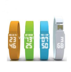2014普及したケイ素のブレスレットLEDの腕時計USBのフラッシュ駆動機構のディスク