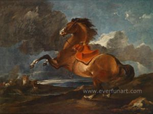 Horse Caldo-Sale Paintings su Canvas Wall Pictures per il salone (EAN-299)