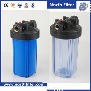 Латунной резьбовой Большой синий корпус фильтра воды с фильтром