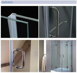 Gummi gebogene Form-Glasprofildichtung der Dusche-Bildschirm-Dichtungs-D