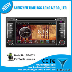 Sistema Android 2 DIN Car DVD para Toyota Corolla com GPS Caixa de TV digital DVR iPod rádio BT 3G/WiFi (TID-I071)