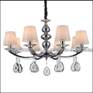 Muito competitivo 8 Luzes Lustre decorativa iluminação com tons de vidro
