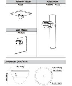 De Digitale Videocamera van WiFi van het Netwerk van de mini-Koepel van Dahua 1.3MP IRL (ipc-hdbw1120e-w)