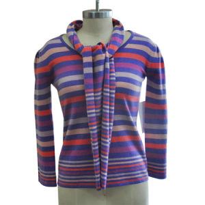 100% Cashmere Mulheres Pulôver Suéter de malha com lenços