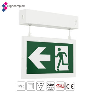 2017 Nuevo producto de salida de emergencia recargable IP20 LED de luz de la seguridad contra incendios señal de salida de la luz de emergencia