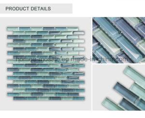 De in het groot Tegel van het Mozaïek van het Glas van de Hoogste Kwaliteit Blauwe Strook Verglaasde