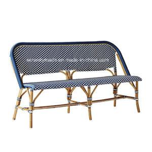 Mobiliário de exterior bistro francês tecidos sintéticos Cadeira de café de vime