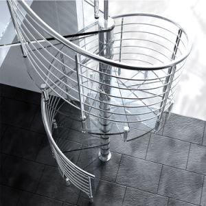 ガラス踏面が付いている高品質ガラスおよびステンレス鋼のステアケースかガラス螺旋階段またはステアケース