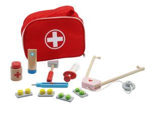 Lindo juguete de madera Set médico