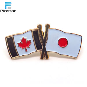 미국과 중국 Relationship Double Flags Poppy Pin Badge
