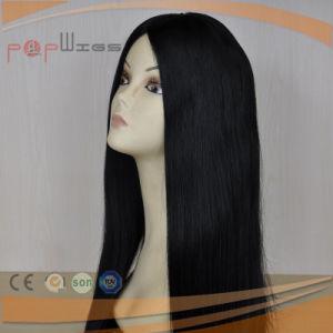 優雅で黒いカラーかつら(PPG-l-0393)