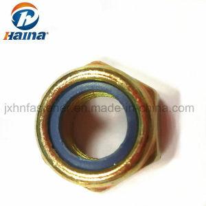 Couple de serrage DIN985 prévalant autobloquant Type DIN982 en acier au carbone Gr5.8 Gr4.8 Gr8.8 GR10.9 Color-Zinc hexagonal galvanisé écrou en nylon