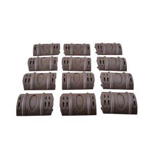 Черный цвет 12 Pack резиновые стопорное Airsoft крышки топливораспределительной рампы