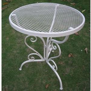 Plegado de malla de alambre de metal blanco muebles de exterior
