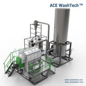 HDPE van het afval Apparatuur van de Was van de Fles de Plastic