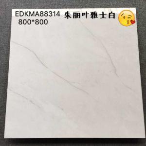 60X60および80X80白いKararaの建築材料の花こう岩のデザインによって磨かれる艶をかけられた磁器の床タイル