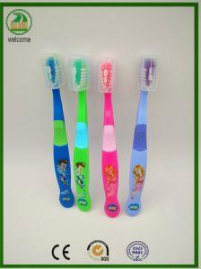Vendas quente muito forte manipular flexíveis, escova de dentes de crianças com Tampa livre