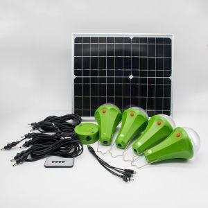30W 11V Dobrável Multifuncional pequeno painel solar Green Kit de Iluminação /4 Lâmpada Solar Sistema de Iluminação/para Home /Piscina / Camping