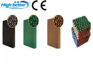 Sistema de resfriamento evaporativo de aves de capoeira e almofada de arrefecimento do resfriador de ar