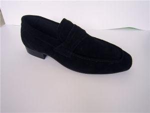 Black Suede Mens zapatos casual