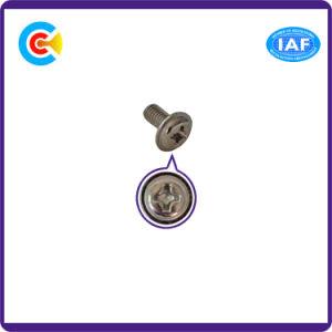 DIN/ANSI/BS/JIS kolen-staal/het Kruis 4.8/8.8/10.9/Galvanized Van roestvrij staal het Hoofd met een Schroef van de Zonnebloem